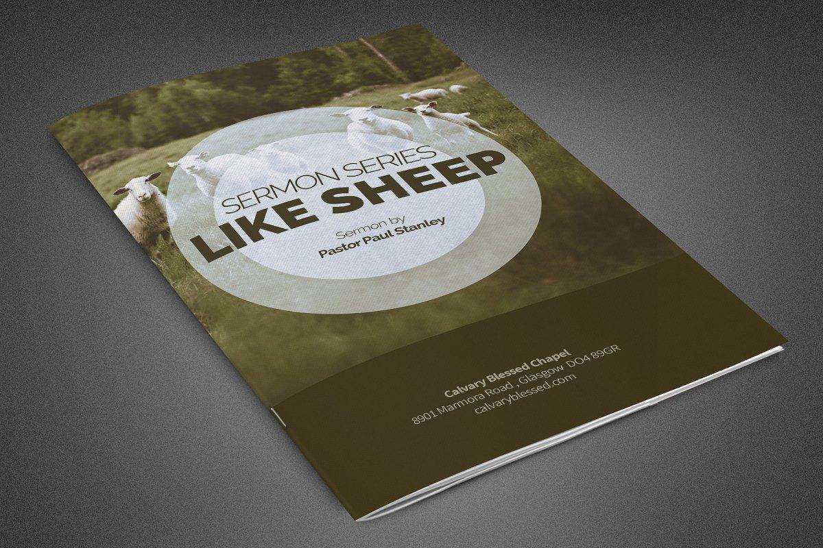 Like Sheep Church Bulletin Template