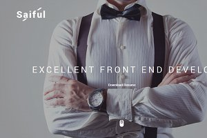 Saiful - Personal Resume and Portofo