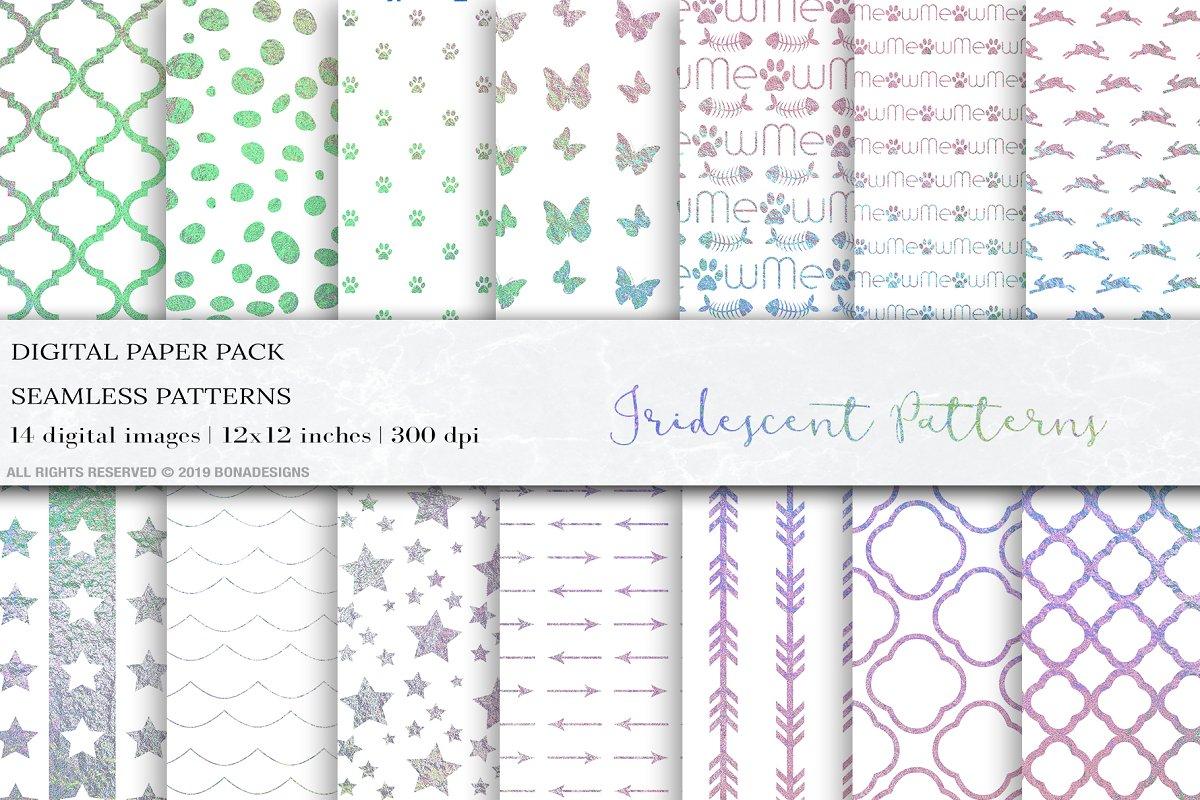 Iridescent Seamless Patterns