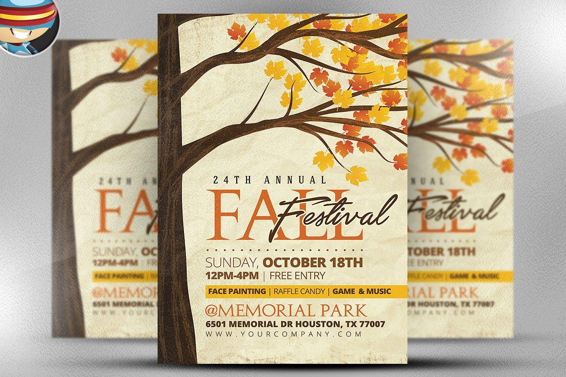 Rustic Fall Flyer Template ~ Flyer Templates ~ Creative Market