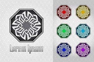 Octagonal celtic style logo
