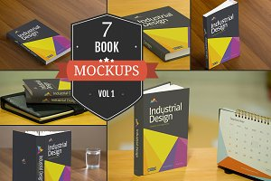 Book Cover PSD Mockups Vol. 1