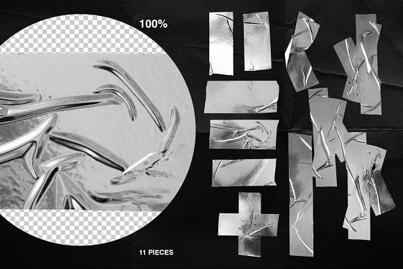 Plastic Wrap & Torn Paper Bundle in Objects - product preview 1