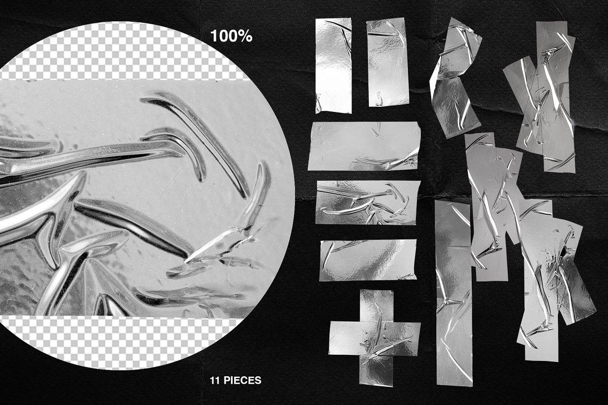 Plastic Wrap & Torn Paper Bundle in Objects - product preview 17