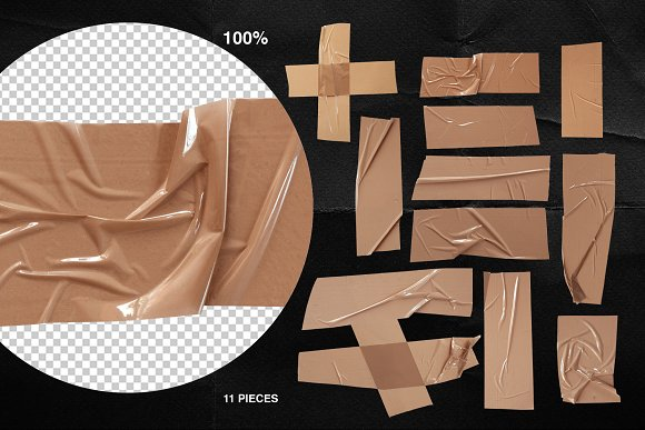 Plastic Wrap & Torn Paper Bundle in Objects - product preview 2