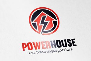 Power Electric House Logo