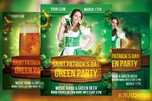 St. Patrick's Day Green Party Flyer