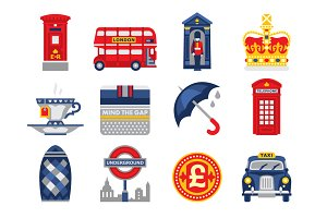 England vector flat icon