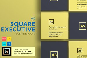 Square Executive - Business Card 61