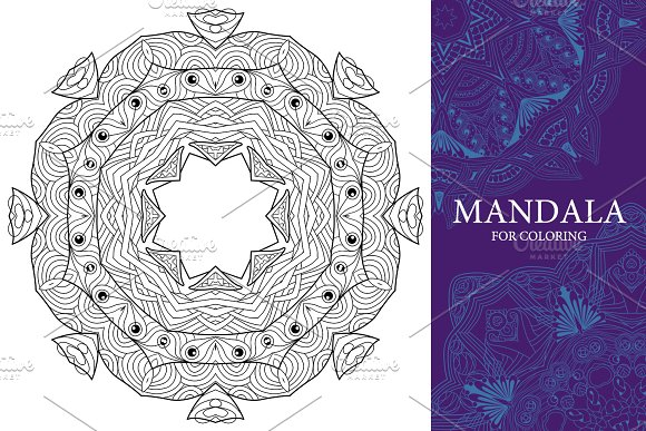 Mandalas for coloring 13 in Objects - product preview 1