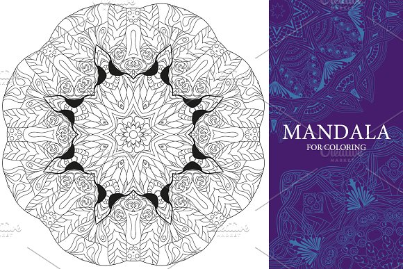 Mandalas for coloring 13 in Objects - product preview 2