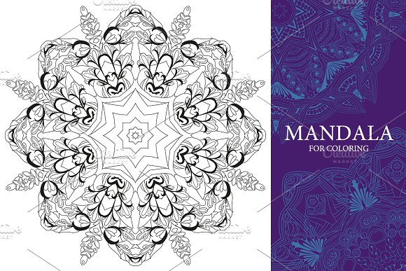 Mandalas for coloring 13 in Objects - product preview 3
