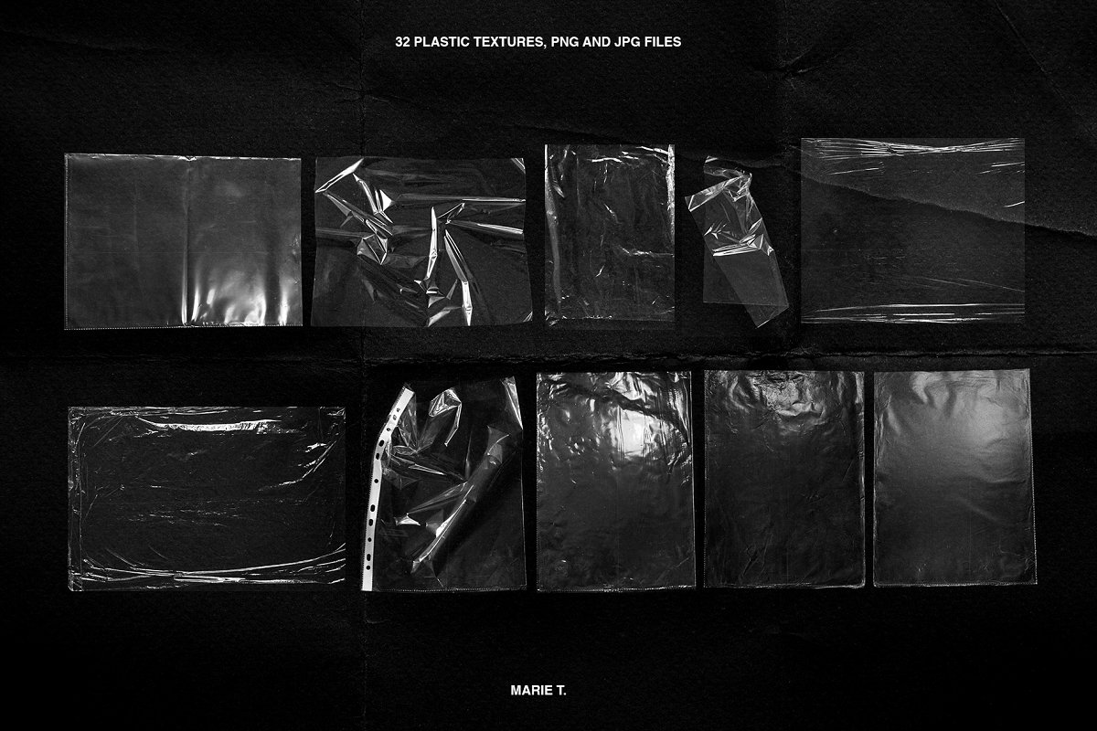 Plastic Wrap & Torn Paper Bundle in Objects - product preview 12