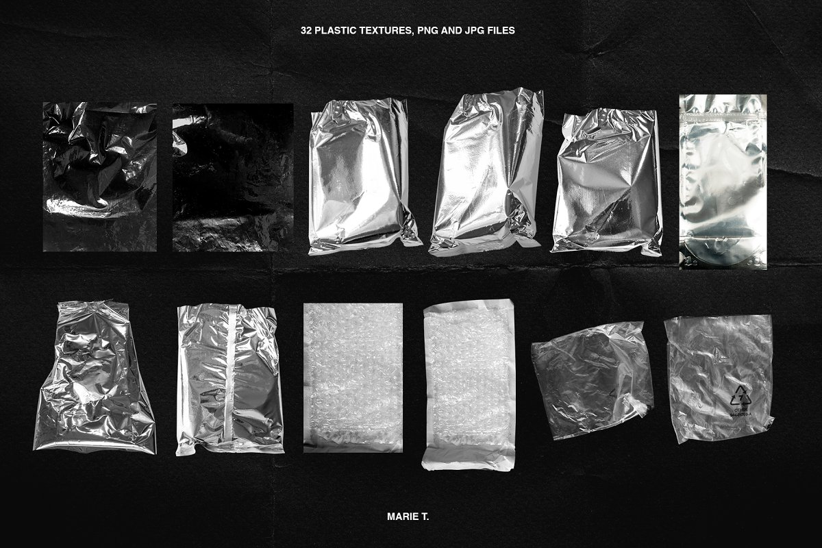 Plastic Wrap & Torn Paper Bundle in Objects - product preview 11