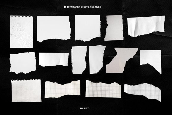 Plastic Wrap & Torn Paper Bundle in Objects - product preview 9