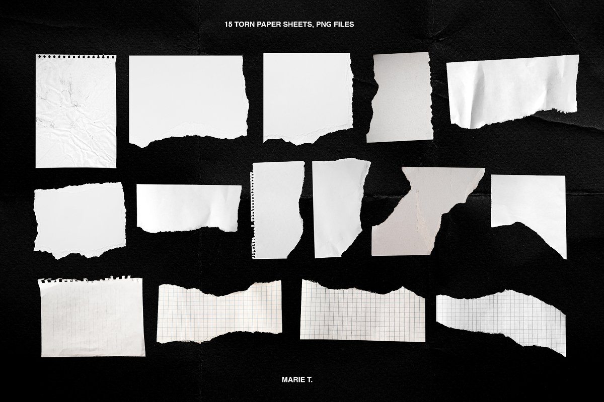 Plastic Wrap & Torn Paper Bundle in Objects - product preview 5