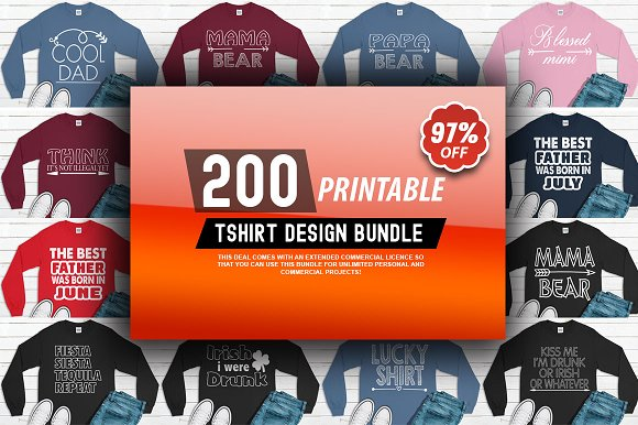 2400 TShirt Design Master Collection in Objects - product preview 2