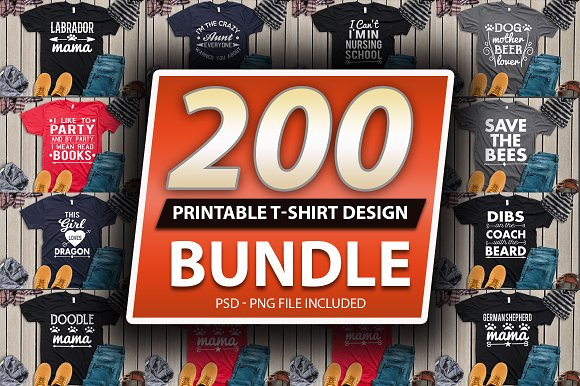 2400 TShirt Design Master Collection in Objects - product preview 3
