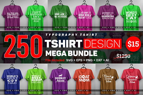 2400 TShirt Design Master Collection in Objects - product preview 9