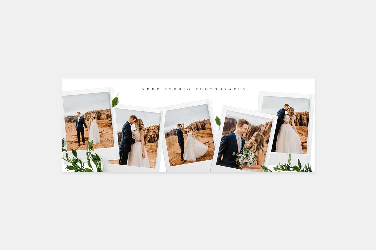 Wedding Facebook Cover FB028 in Facebook Templates - product preview 8