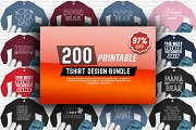 200 Tshirt design Big Bundle Vol 2