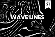 Wave Lines Background