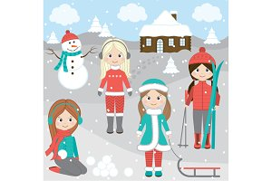Winter Girls Set