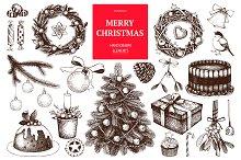 Hand drawn Christmas design