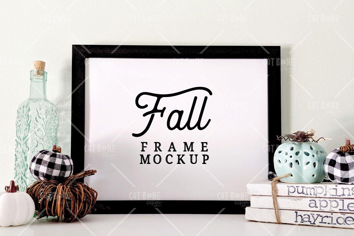 Autumn Frame Mockup Bundle 2 in Scene Creator Mockups - product preview 1