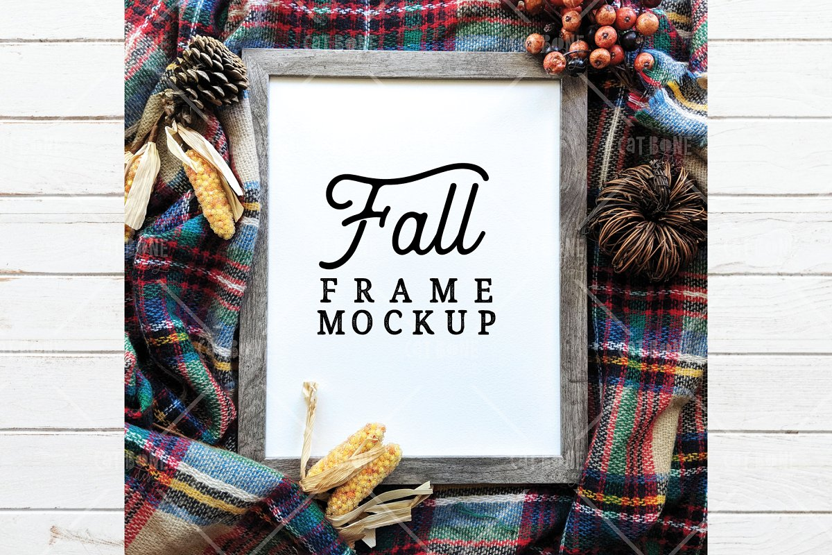 Autumn Frame Mockup Bundle 2 in Scene Creator Mockups - product preview 2