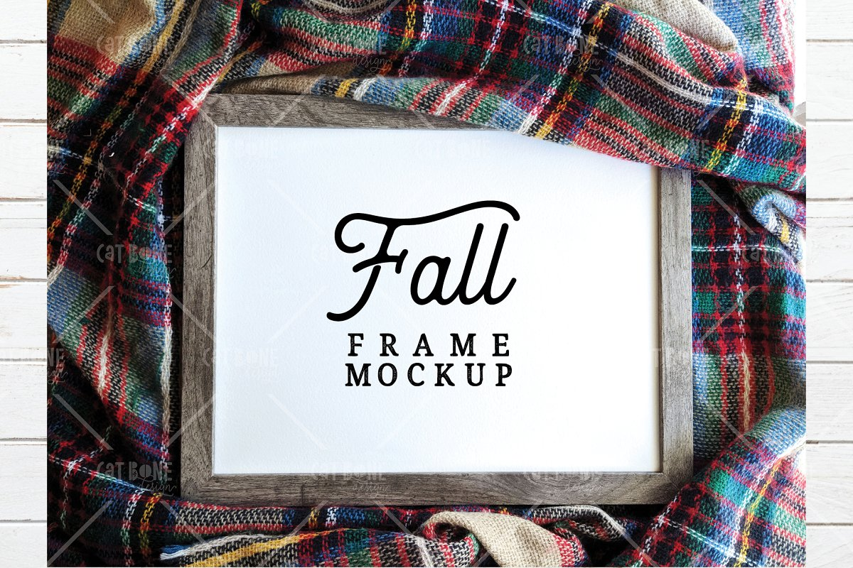 Autumn Frame Mockup Bundle 2 in Scene Creator Mockups - product preview 3