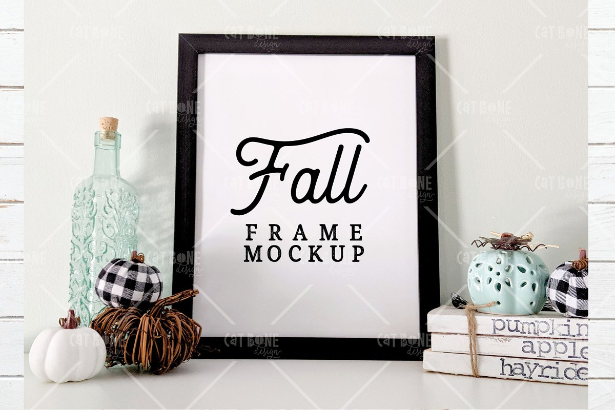 Autumn Frame Mockup Bundle 2 in Scene Creator Mockups - product preview 4