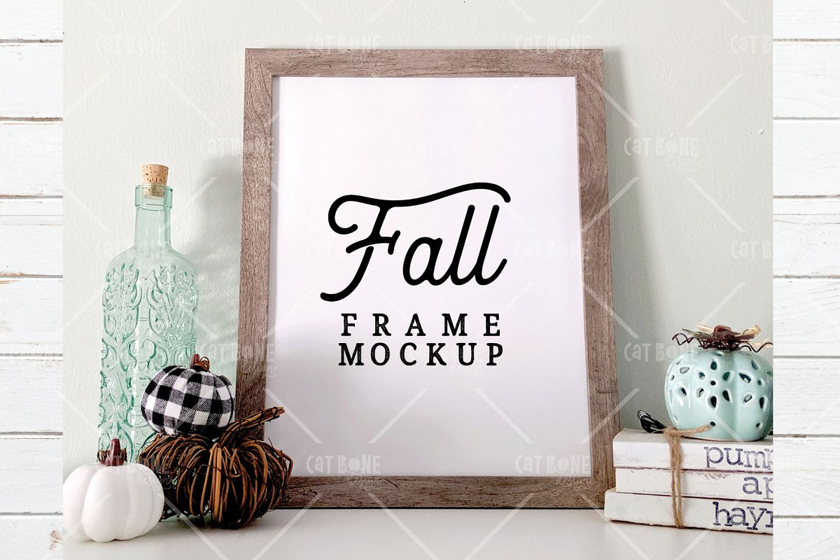 Autumn Frame Mockup Bundle 2 in Scene Creator Mockups - product preview 5