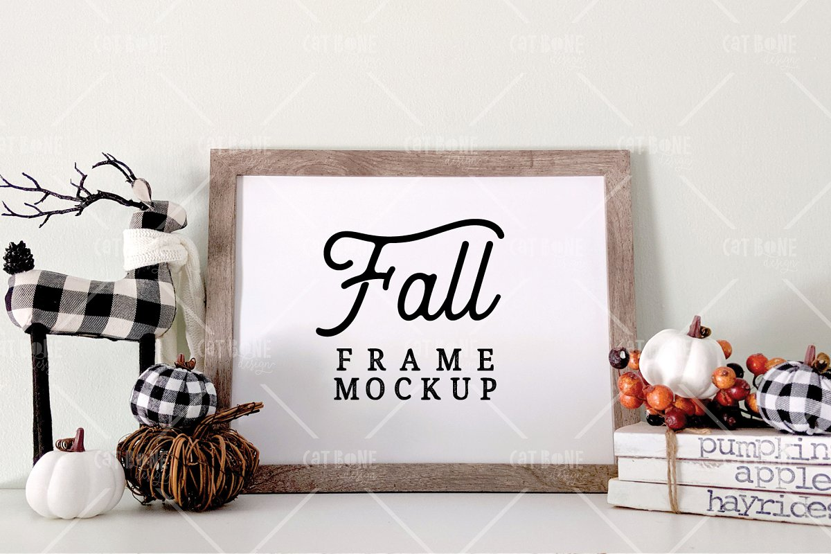 Autumn Frame Mockup Bundle 2 in Scene Creator Mockups - product preview 6