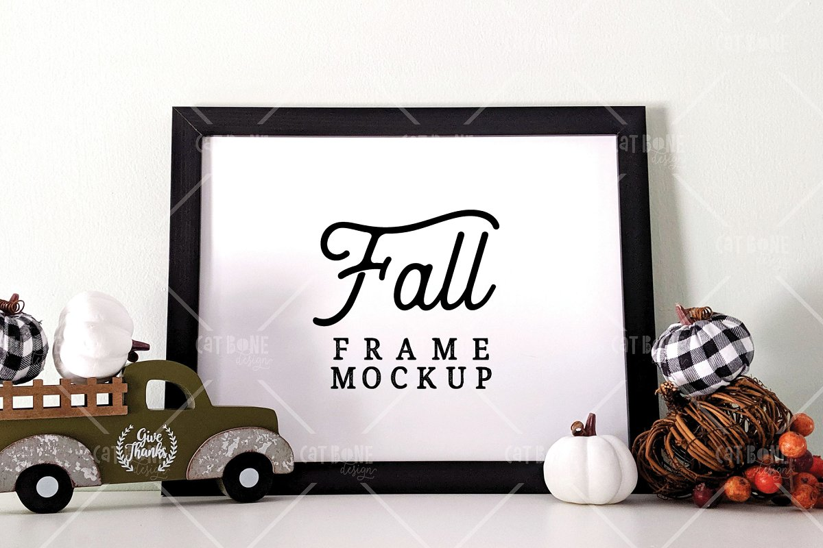 Autumn Frame Mockup Bundle 2 in Scene Creator Mockups - product preview 7
