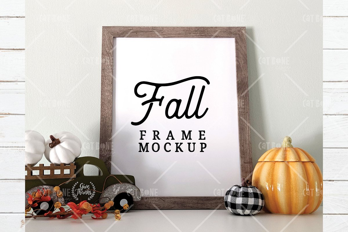 Autumn Frame Mockup Bundle 2 in Scene Creator Mockups - product preview 8