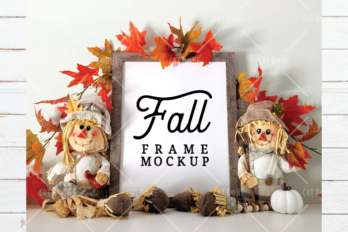 Autumn Frame Mockup Bundle 2 in Scene Creator Mockups - product preview 9