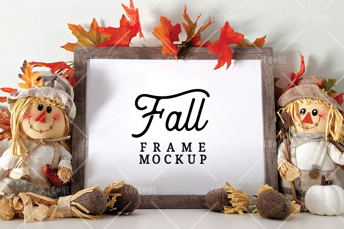 Autumn Frame Mockup Bundle 2 in Scene Creator Mockups - product preview 10