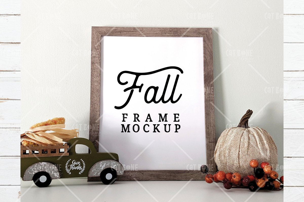 Autumn Frame Mockup Bundle 2 in Scene Creator Mockups - product preview 11
