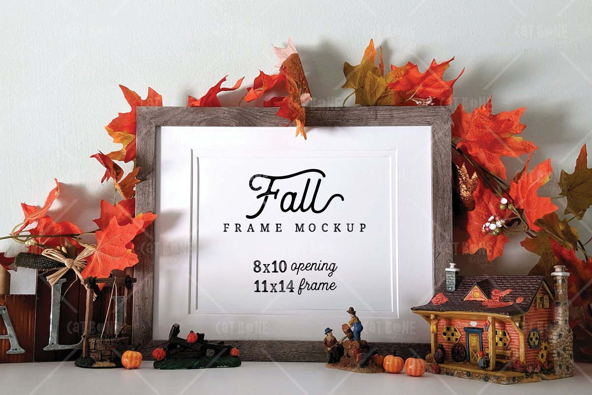 Autumn Frame Mockup Bundle 2 in Scene Creator Mockups - product preview 12