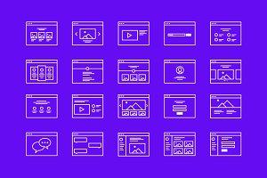 Wireframe Icon Set