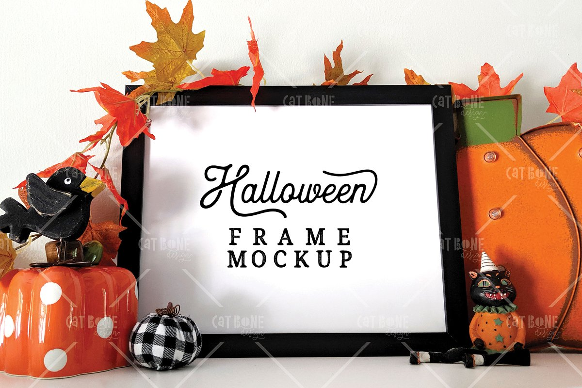 Autumn Frame Mockup Bundle 2 in Scene Creator Mockups - product preview 21