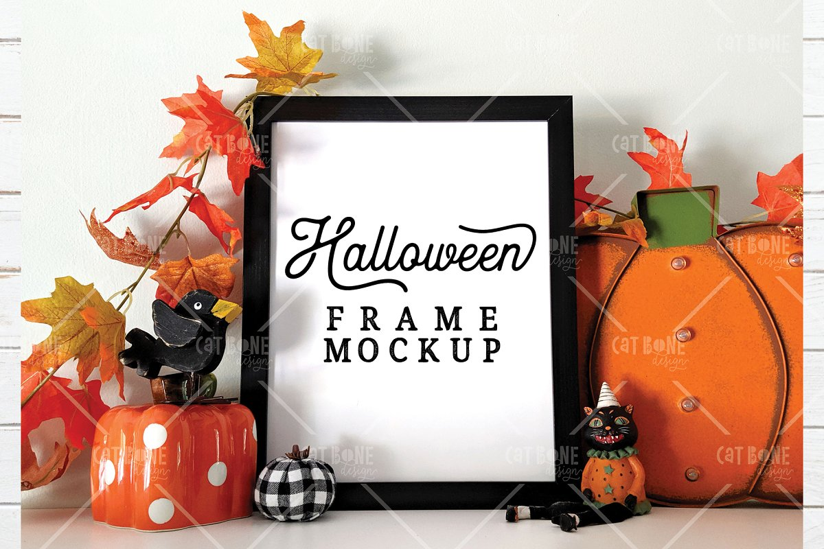 Autumn Frame Mockup Bundle 2 in Scene Creator Mockups - product preview 22