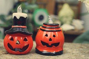 Jack-o'-lantern Candle holder