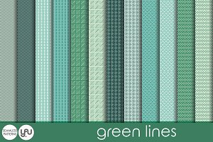 Green digital paper: GREEN LINES