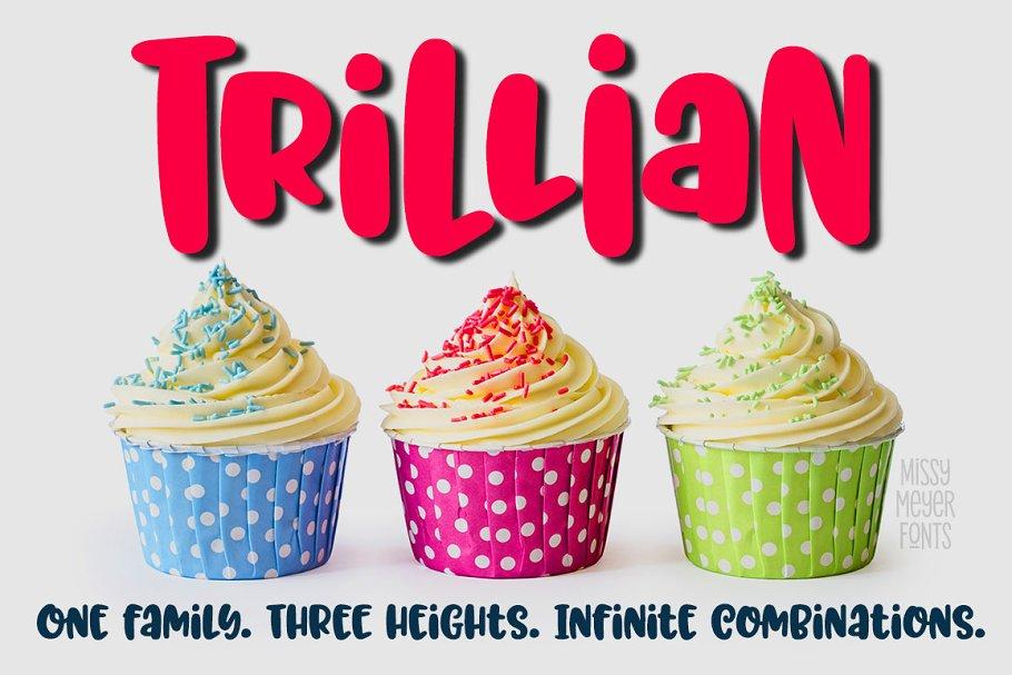 Trillian: 1 fun font, 3 heights!