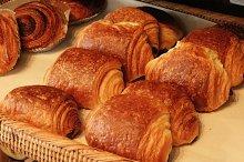 Croissant at bakery shop
