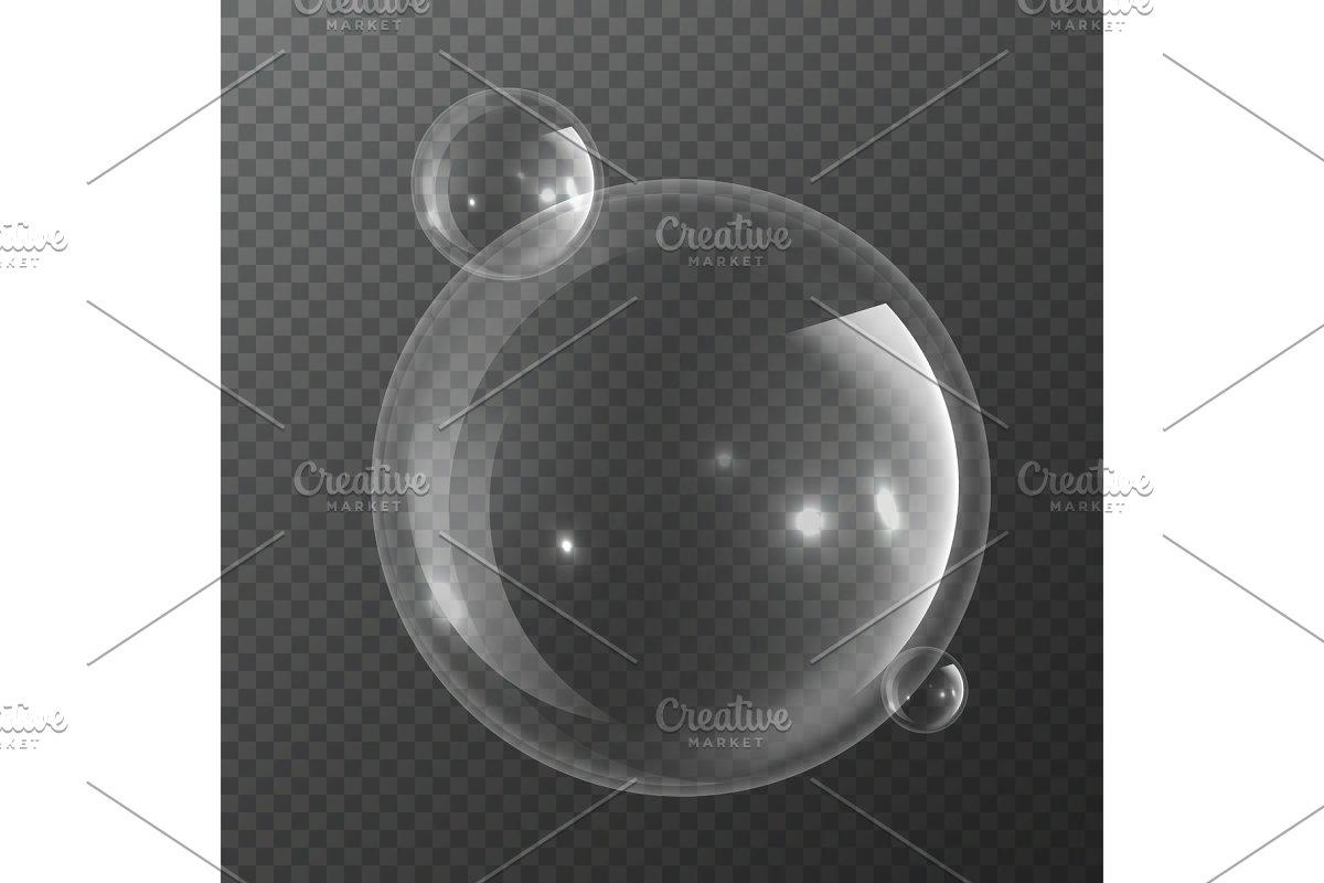 Bubble molecules. Macro fresh bubbly