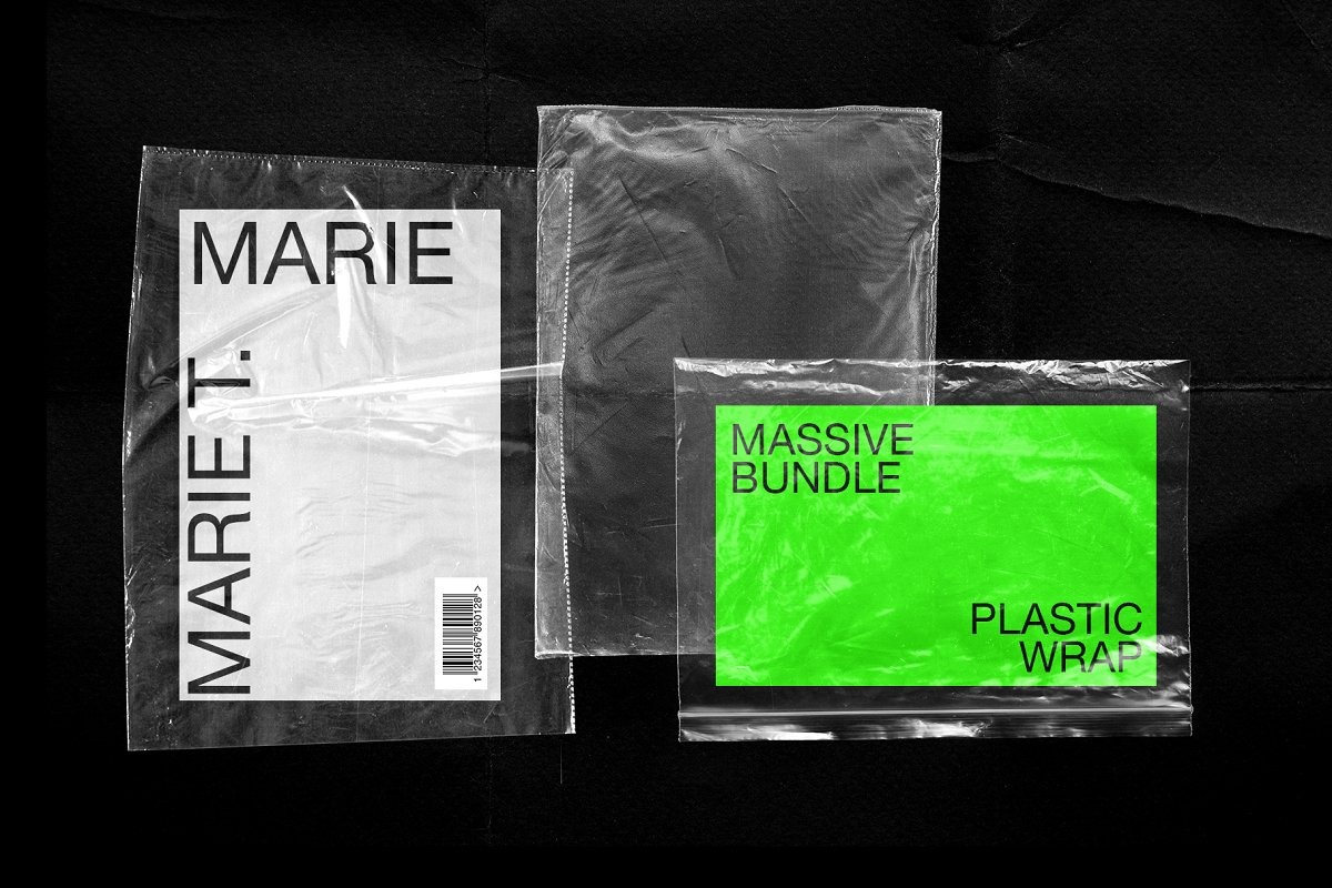 Plastic Wrap & Torn Paper Bundle in Objects - product preview 10