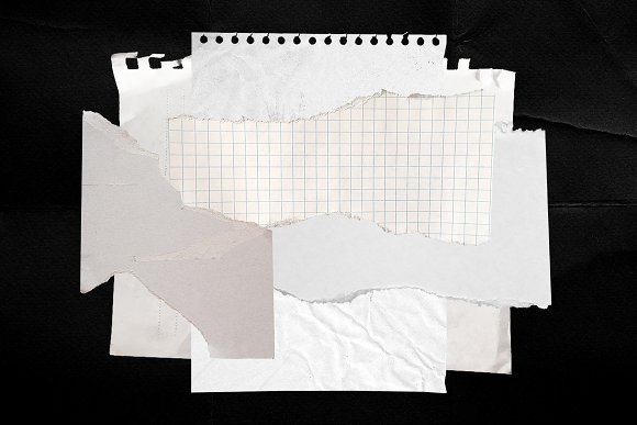 Plastic Wrap & Torn Paper Bundle in Objects - product preview 14